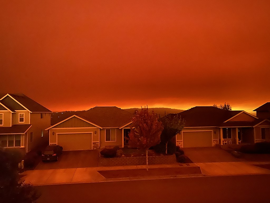 Fires in Salem, Oregon.