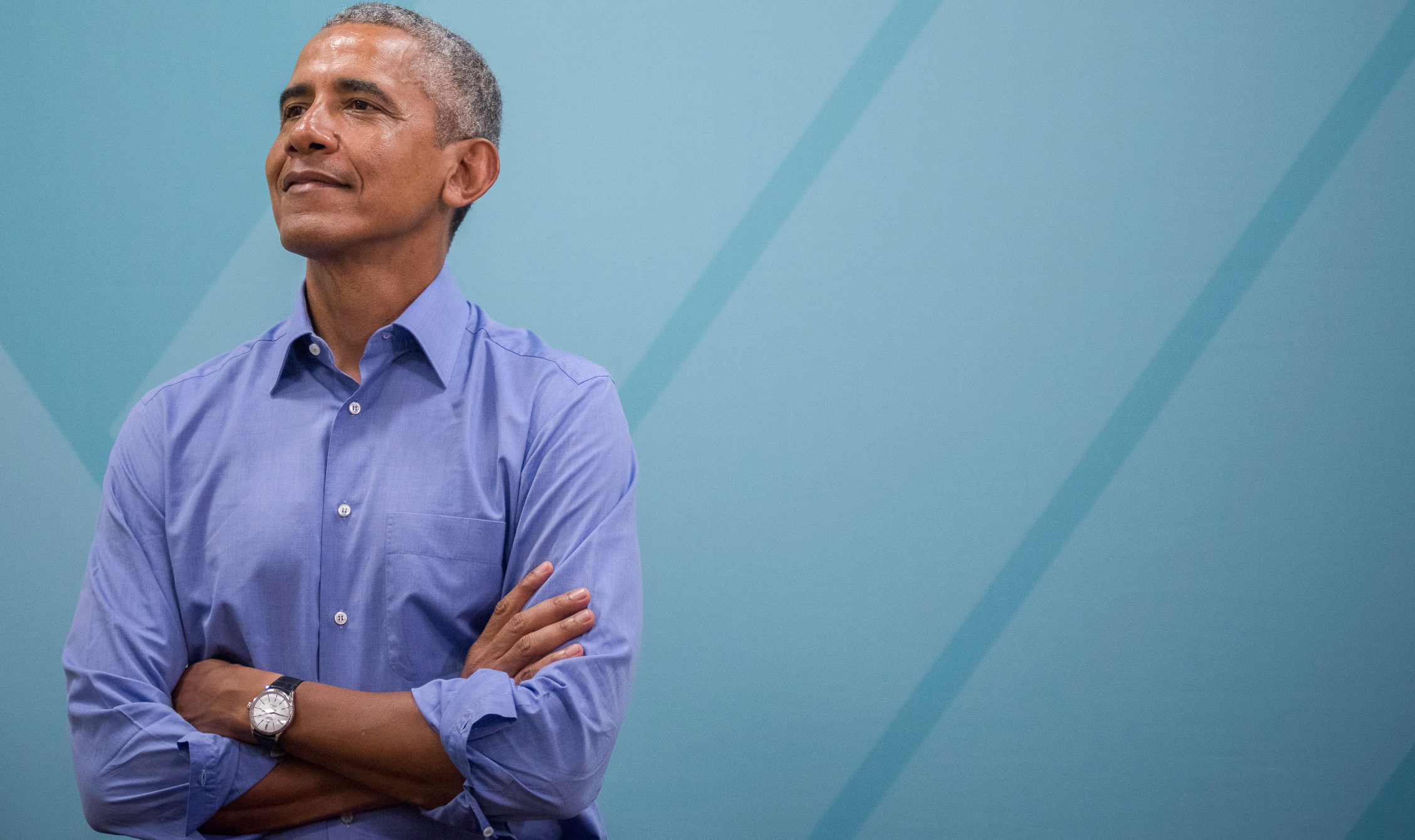 Barack Obama Posing with Arms Crossed