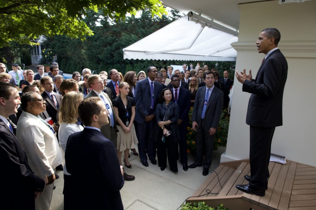 President Obama delivers remarks at a reception celebrating the passage of financial regulation, Aug. 6, 2010.