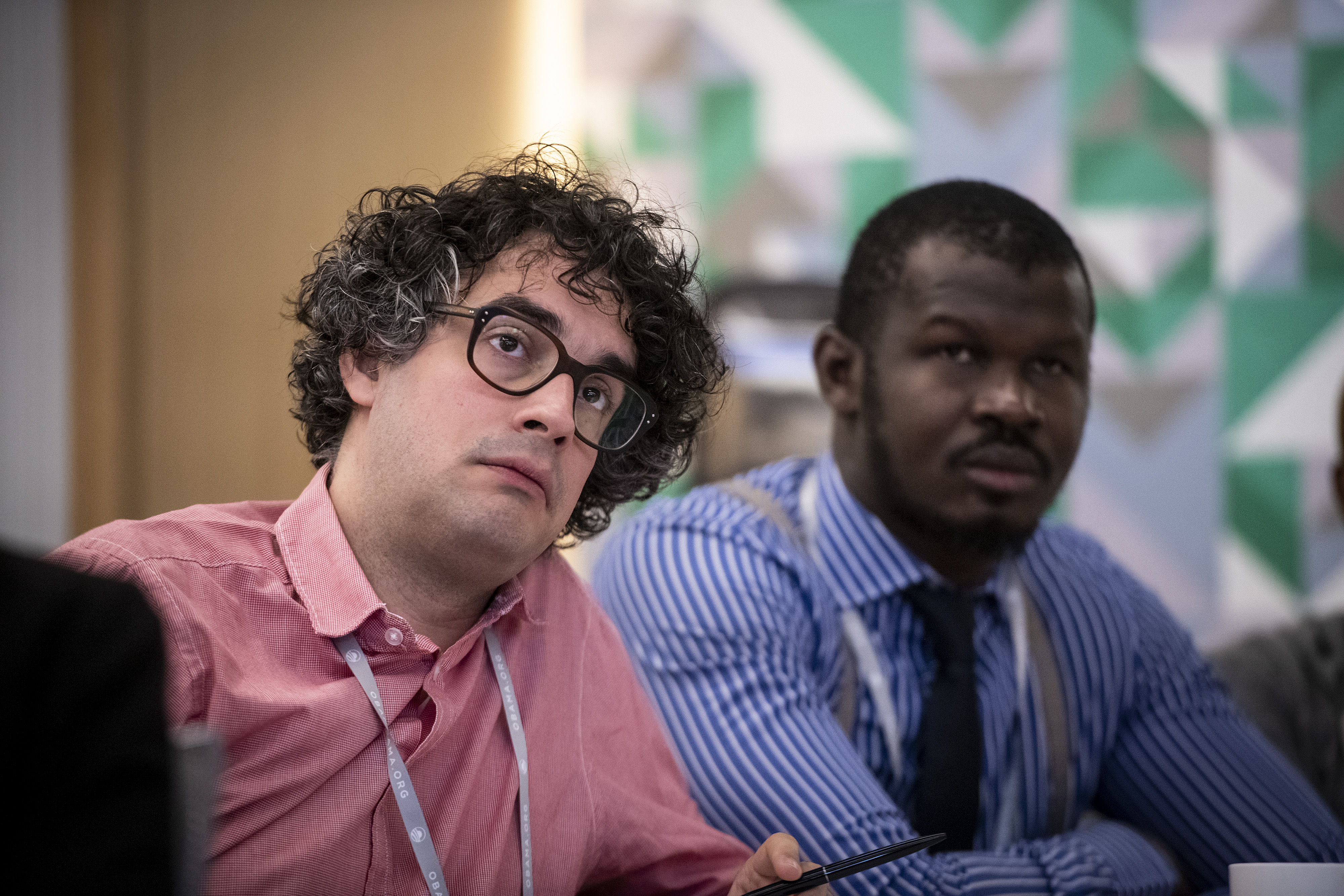 Moussa Kondo and Sandor Lederer, 2018 Obama Foundation Fellows.