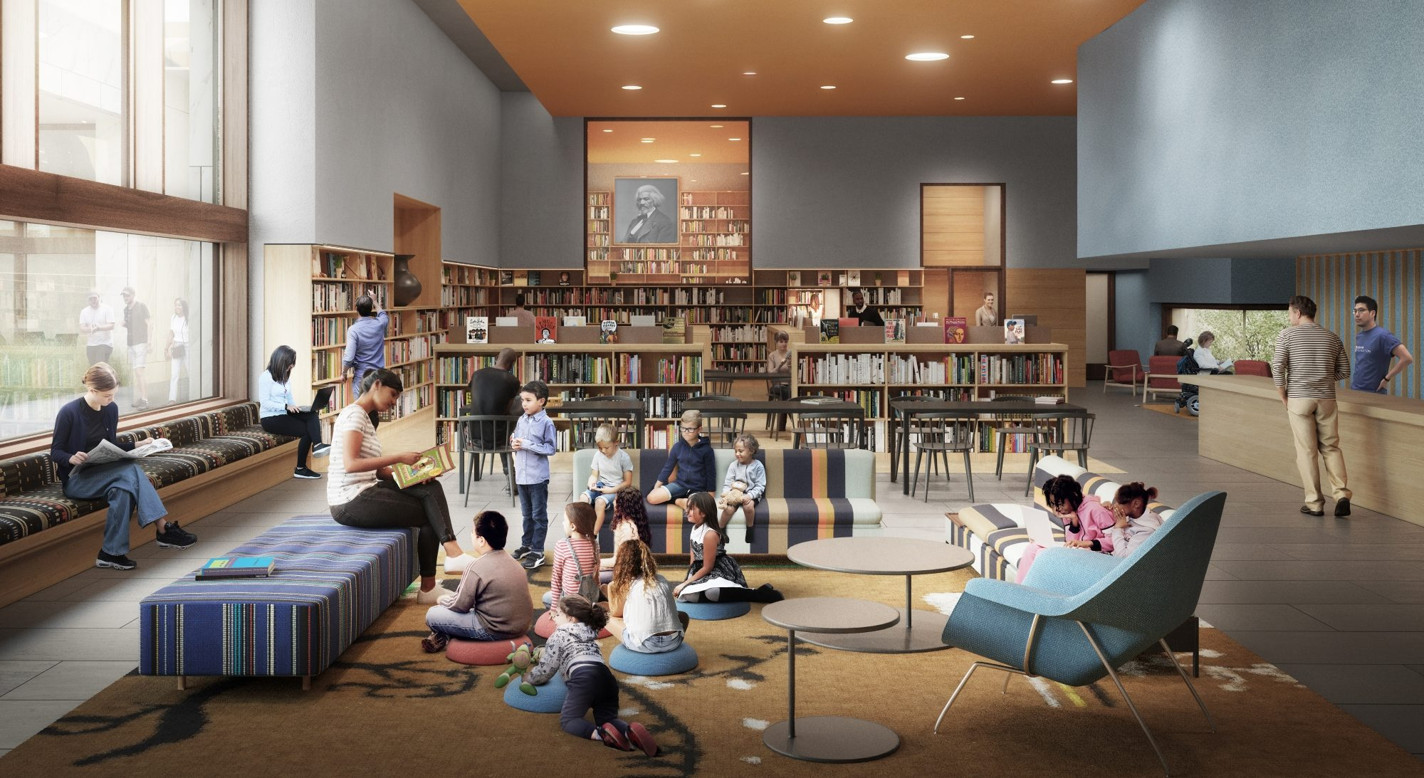Rendering of Chicago Library in The Obama Presidential Center
