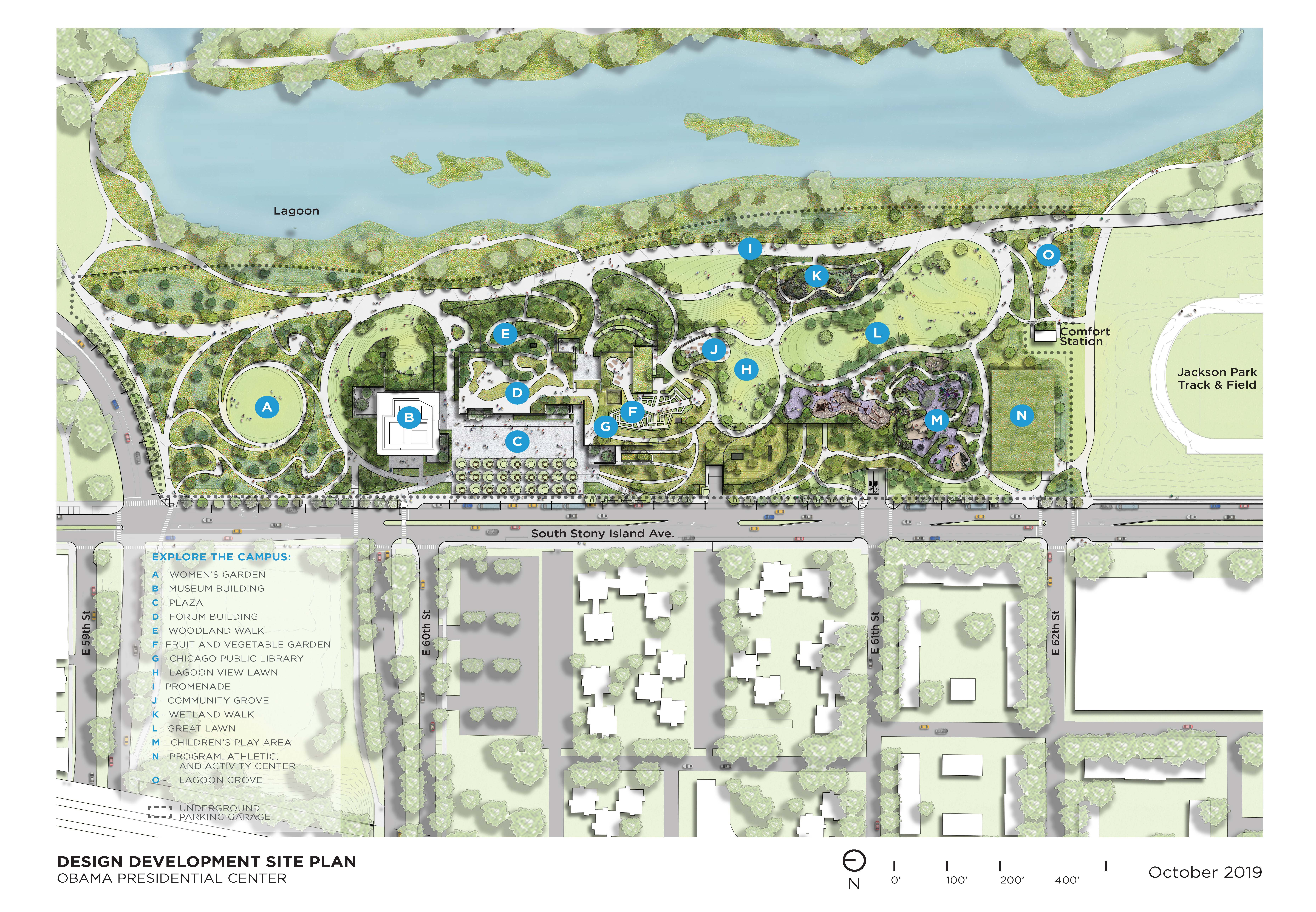 campus site plan from above