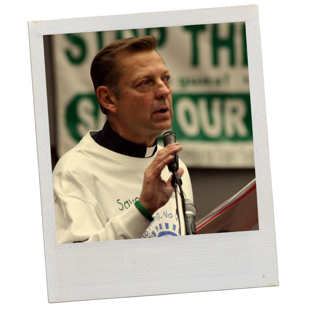 Polaroid of Father Pfleger