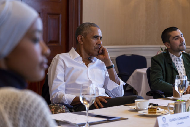 President Obama joins 11 young leaders from across Europe for roundtable conversation
