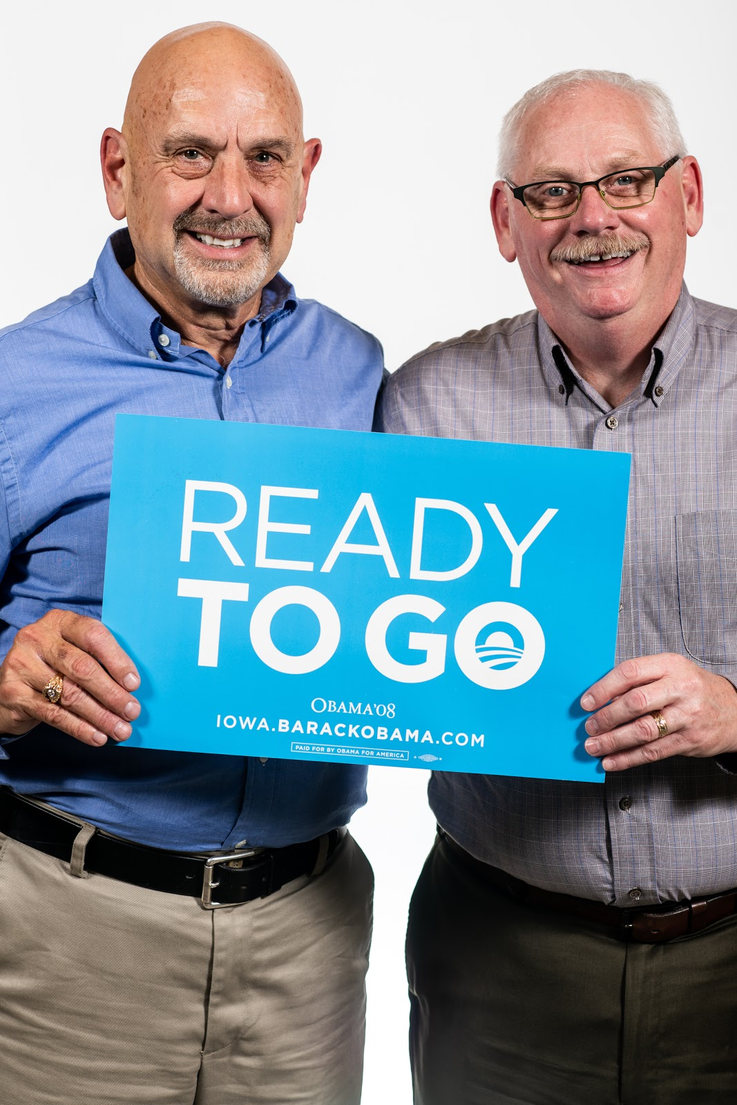 Dean Genth and Gary Swensen with a Ready to Go Sign