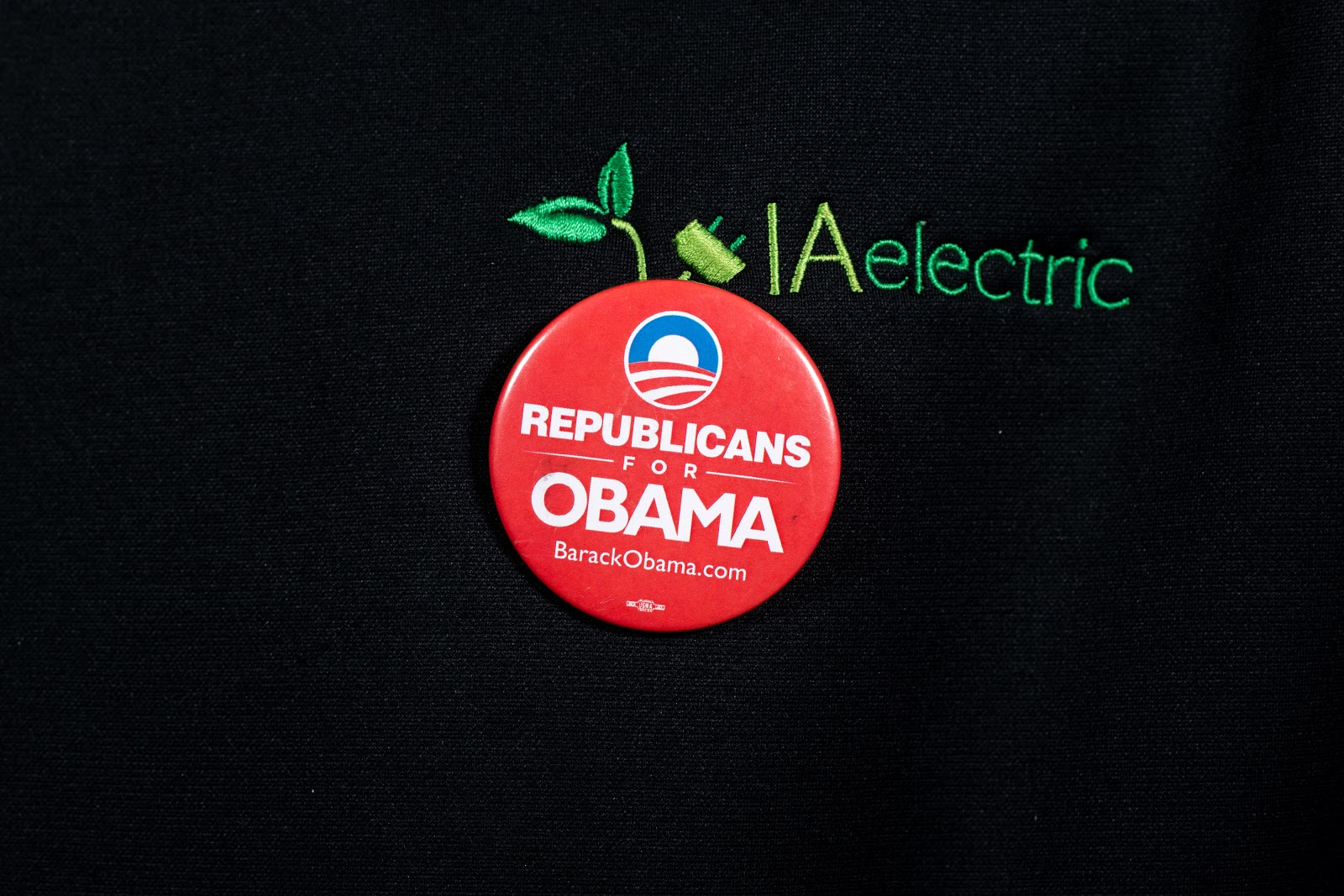 Button from the 2008 campaign