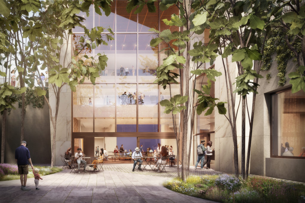 A rendering of the Museum courtyard at the Obama Presidential Center.