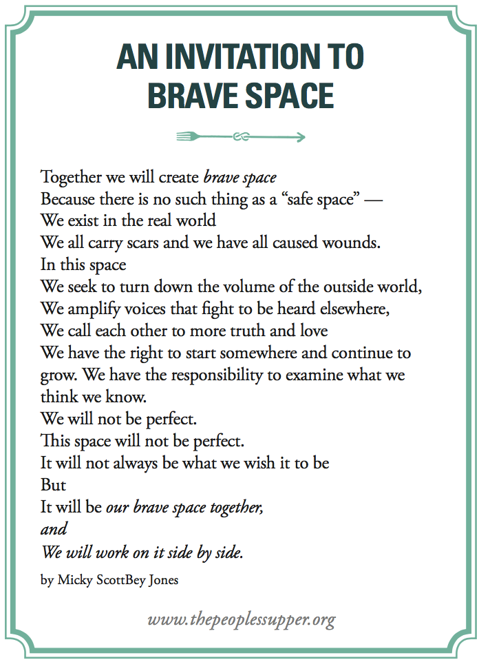 An invitation to brave space