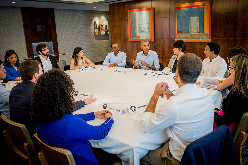 President Obama joins young leaders for a conversation about active citizenship in Sao Paulo, Brazil.