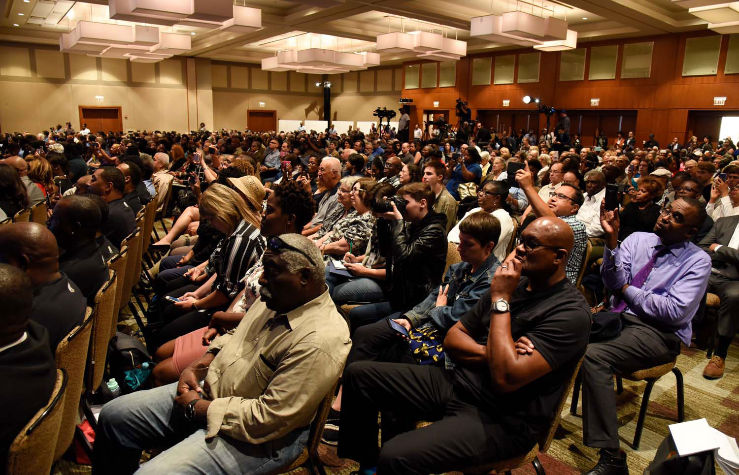 The crowd at the Obama Foundation public meeting in Chicago.