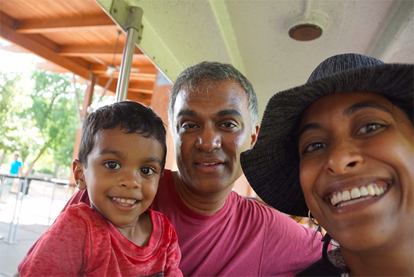Sindhu Idicula and her family.