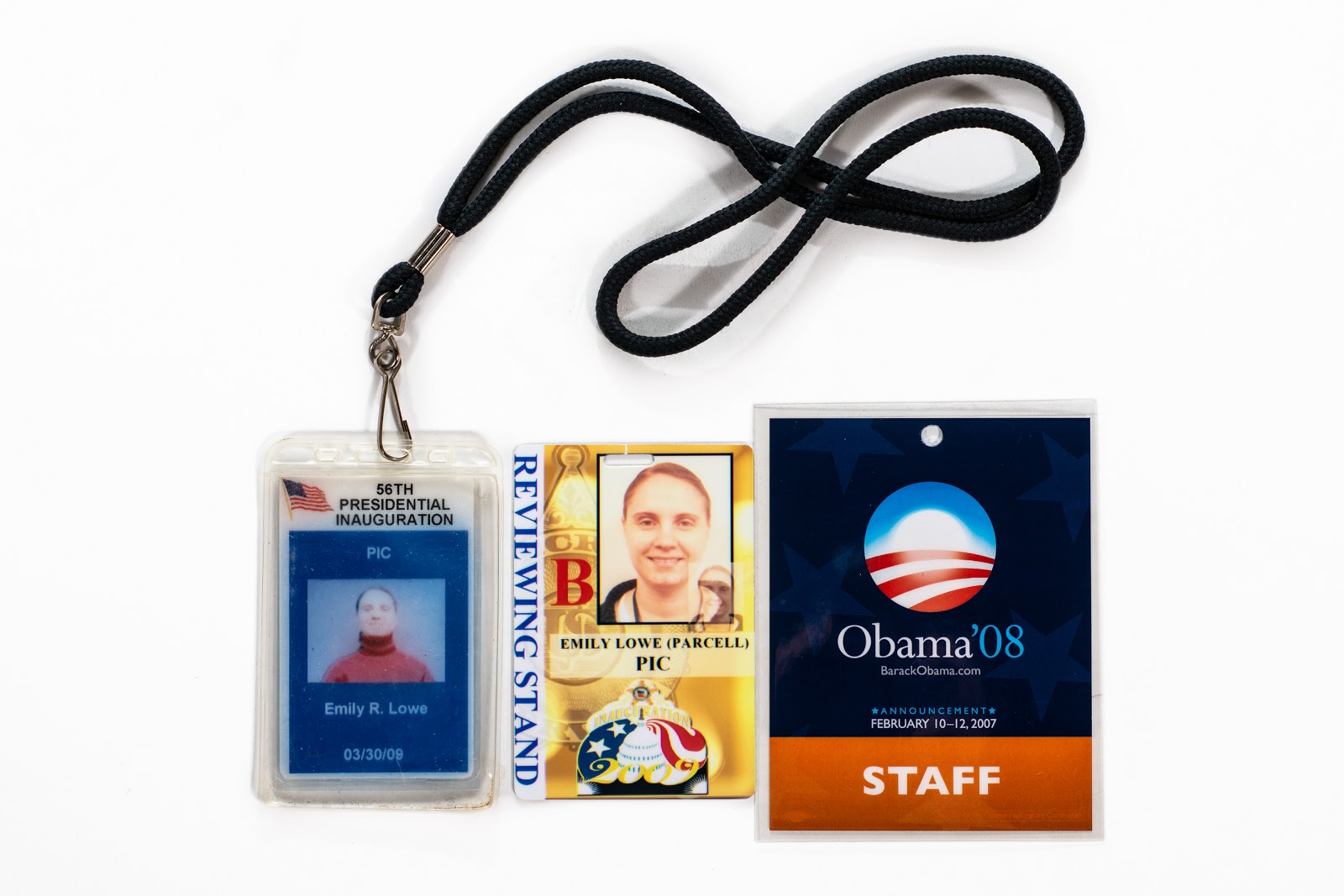 Emily Parcell's staff badges